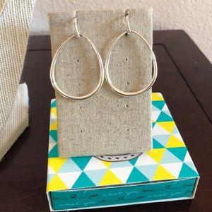 Stella & dot Silver Hoop Earrings